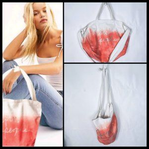 Free People Ombre Dip Dyed Large Cotton Boho Bag